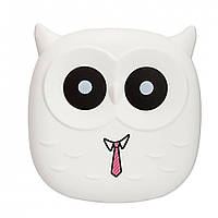 Power Bank Owl Blue 6000mАh USB 2x1A Белая, фото 1