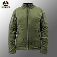 """🔥 Куртка / Кофта флисовая тактическая """"Migpeng. Commander"""" (олива) кофта нацгвардии, зсу, тактическая, теплая"""