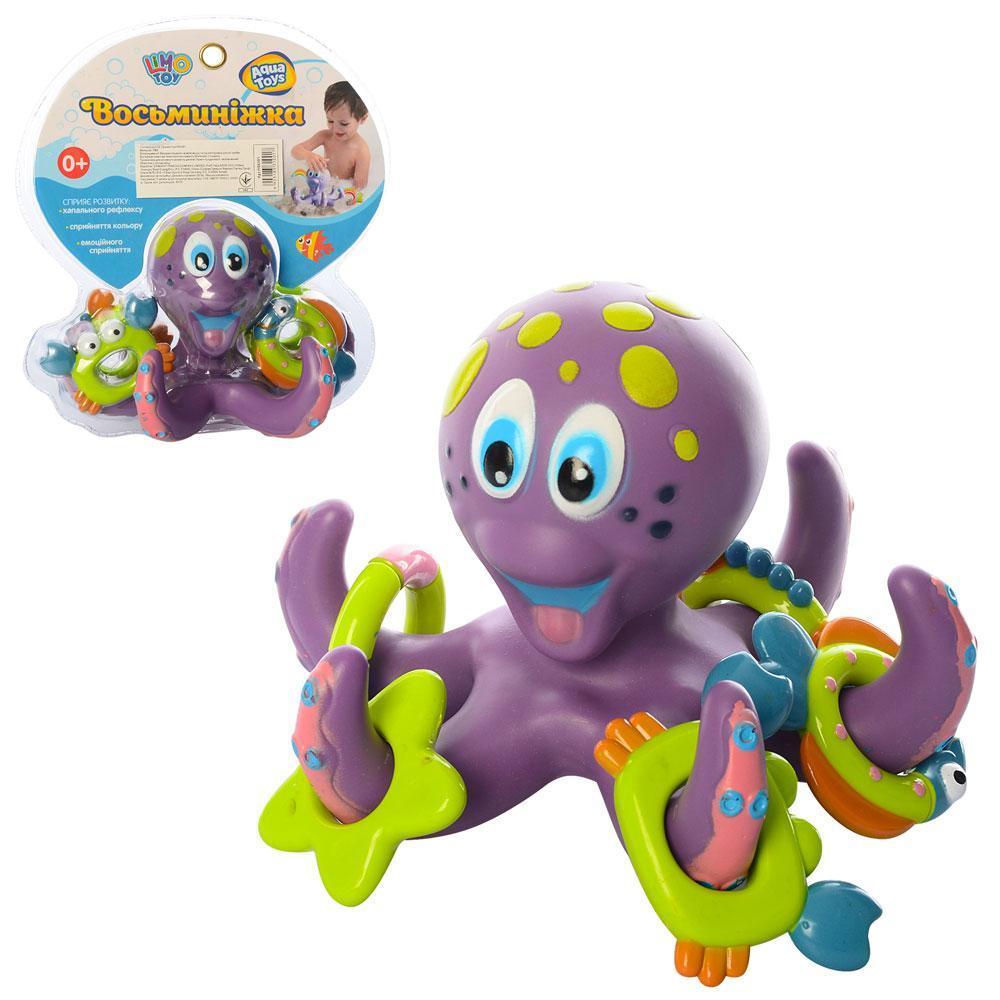 Игра для купания, осьминог-кольцеброс, кольца-фигурки, 2 цвета, HS6301