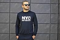 Мужской свитшот черный NYC