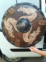 Щит «Дракон» (55 см) - ручная робота Материал щита - ольха
