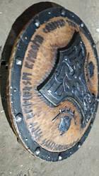 Щит «Перун» - ручная робота Материал щита - ольха