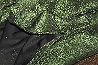 Диско. Фісташка. Трикотаж стрейчовий, еластичний, з люрексовою кольоровою ниткою на чьорній основі., фото 1