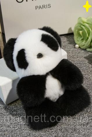Панда брелок з натурального хутра