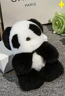 Панда брелок из натурального меха