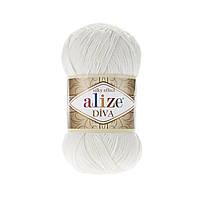 Пряжа Ализе Дива Alize Diva, цвет №450 жемчужный