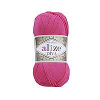 Пряжа Ализе Дива Alize Diva, цвет №561 ярко розовый