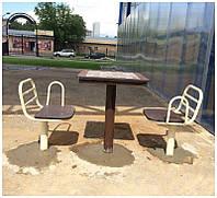 Стол для шахмат уличный с сидениями, фото 1