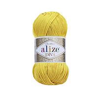 Пряжа Ализе Дива Alize Diva, цвет №110 желтый