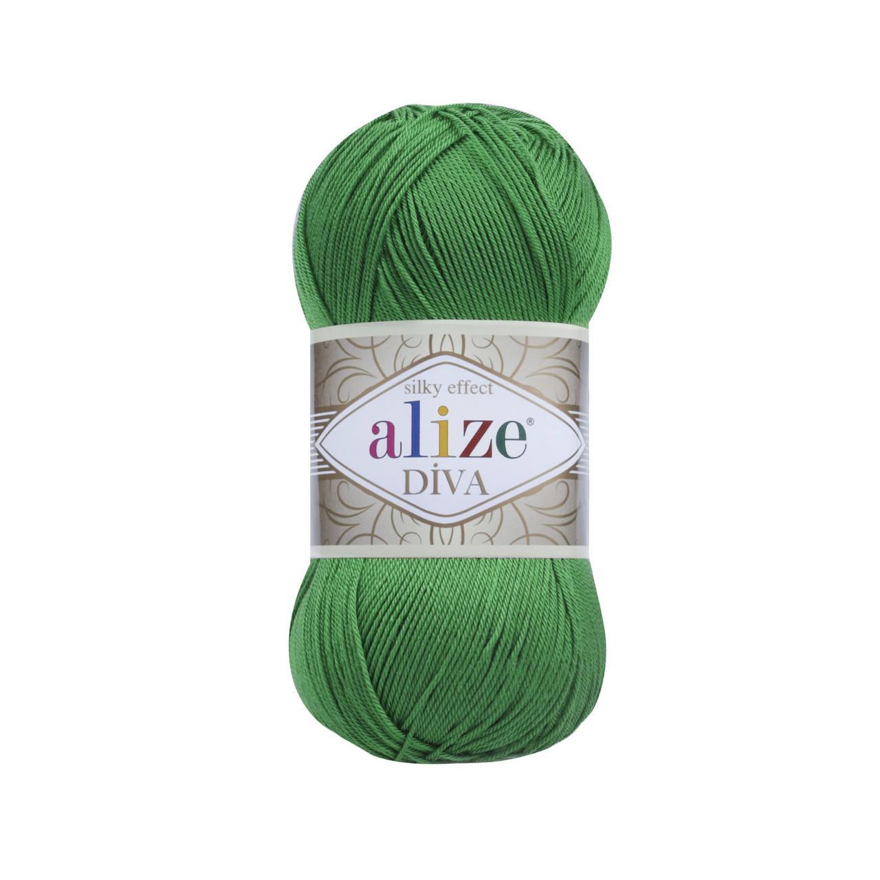 Пряжа Ализе Дива Alize Diva, цвет №123 изумруд