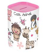 Скарбничка HEREVIN Money Box Милі тваринки Рожевий (161495-001)