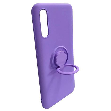 Сыликоновый чехол Cool Ring на Samsung A30s Purple, фото 2
