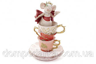 Статуэтка Мышка в чашке 10,7х16,7см