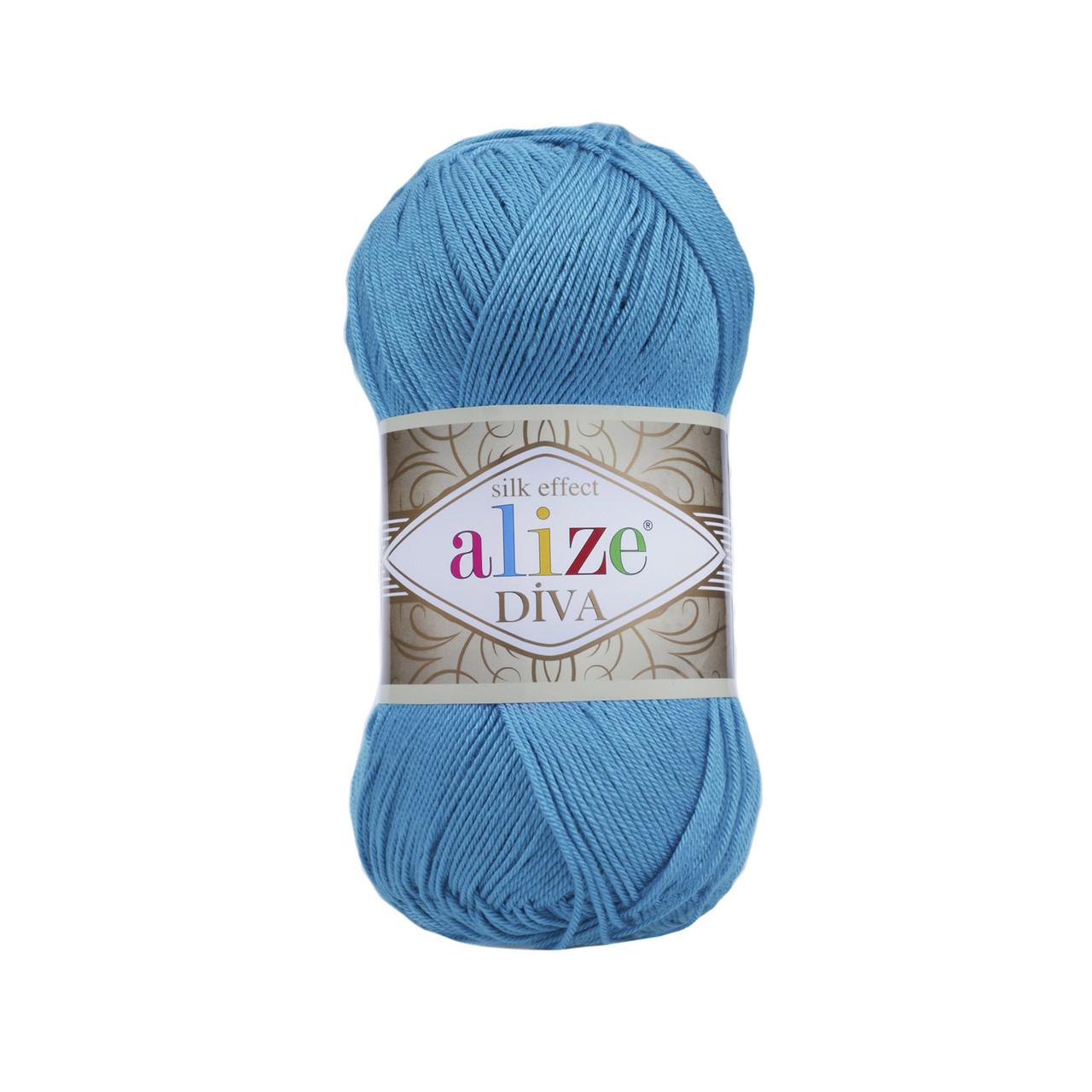 Пряжа Ализе Дива Alize Diva, цвет №245 бирюзовый