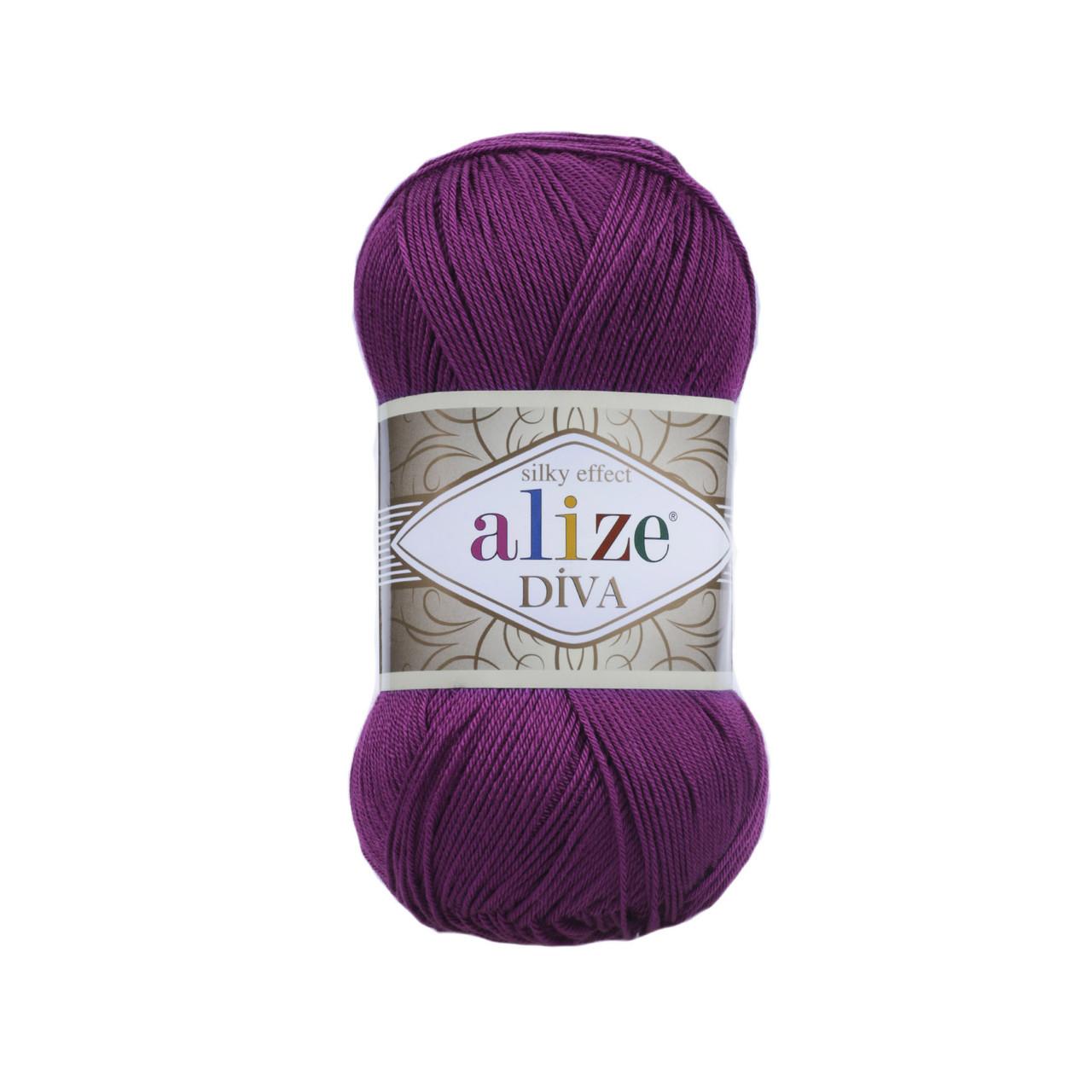 Пряжа Ализе Дива Alize Diva, цвет №297 слива