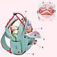 Сумка рюкзак для мам Lagaffe 17079-2 из эко ткани с водоотталкивающими свойствами, с 16 карманами, 15л, фото 7