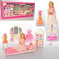 Мебель для куклы, спальня, кукла 2 шт, манекен, обувь, 288-3C