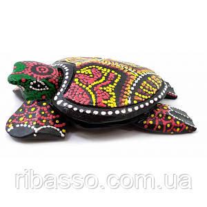 Пепельница черепаха деревянная расписная (15х9х4 см) ( 32695A)