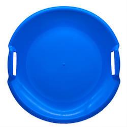 Ледянка круглая пластиковая Kronos Toys диск НЛО 60 см Синий
