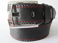 """Ремень мужской джинсовый шпенек (кожа, 45 мм.) №М17809  """"Remen"""" LM-638"""