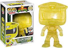 Фигурка Funko Pop Фанко Поп Могучие рейнджеры Желтый Рейнджер Power Rangers Morphing  10 см Serial PR YR 413