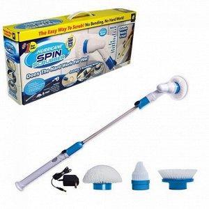 Электрическая щетка для влажной уборки SPIN SCRUBBER с накладками
