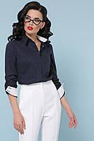 GLEM синяя рубашка в горошек Венди д/р, фото 1