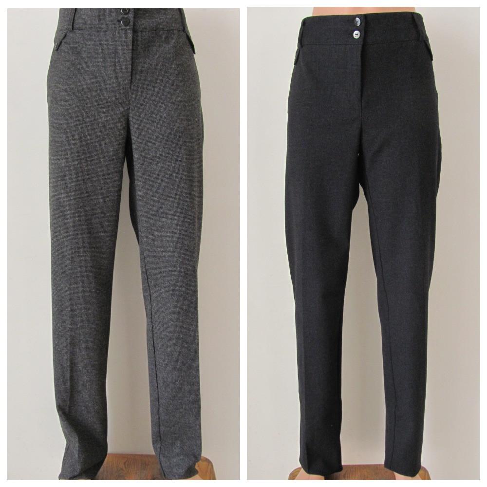 Классические женские теплые брюки, полная длина, р.50,52 код 2758М