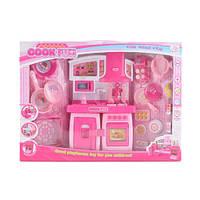 Мебель для куклы, кухня, звук, свет, кухонные принадлежности, SY-2058-1A