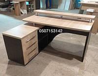 Угловой стол для компьютера с левосторонней тумбой. Модель V333/1