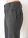 Классические женские теплые брюки, полная длина, р.50,52 код 2758М, фото 3