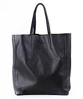 Женская кожаная сумка Poolparty City (черная)