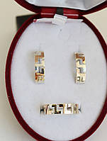 Серебряный набор с золотыми пластинами Зиро, фото 1