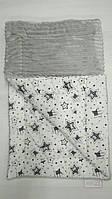 Зимнее детское одеяло с утеплителем в кроватку или коляску 80*100 см