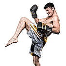 Боксерские перчатки RDX Leather Black Gold 14 ун., фото 5