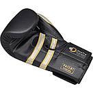 Боксерские перчатки RDX Leather Black White 16 ун., фото 3