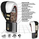 Боксерские перчатки RDX Leather Black White 16 ун., фото 4
