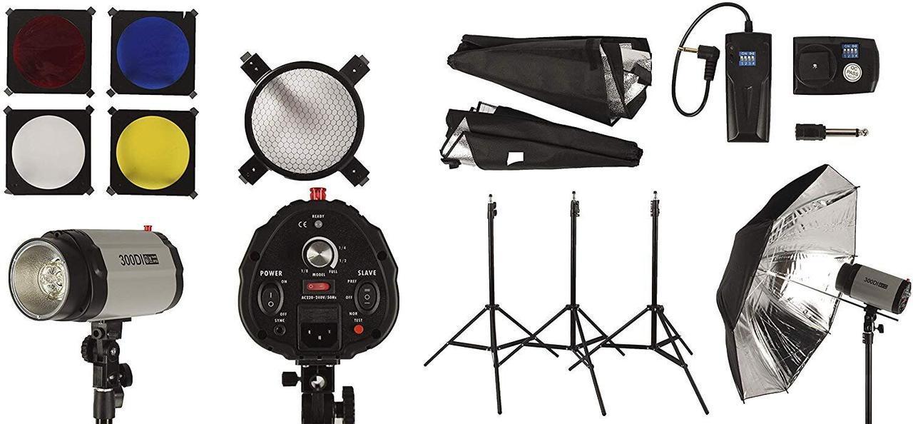 Набор импульсного света FST PHOTO EG-250DI IP33 + радиосинхронизатор
