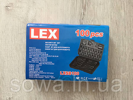 ✔️ Набор бит насадок с держателем в кейсе LEX 100шт, фото 2