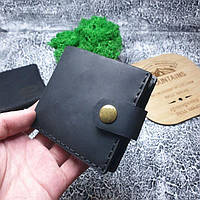 Мужское кожаное портмоне Compact черное, фото 1