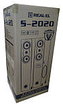 Колонки 2.0 REAL-EL S-2020 уценка (Bluetooth, USB flash, FM, Karaoke, ДУ), фото 8