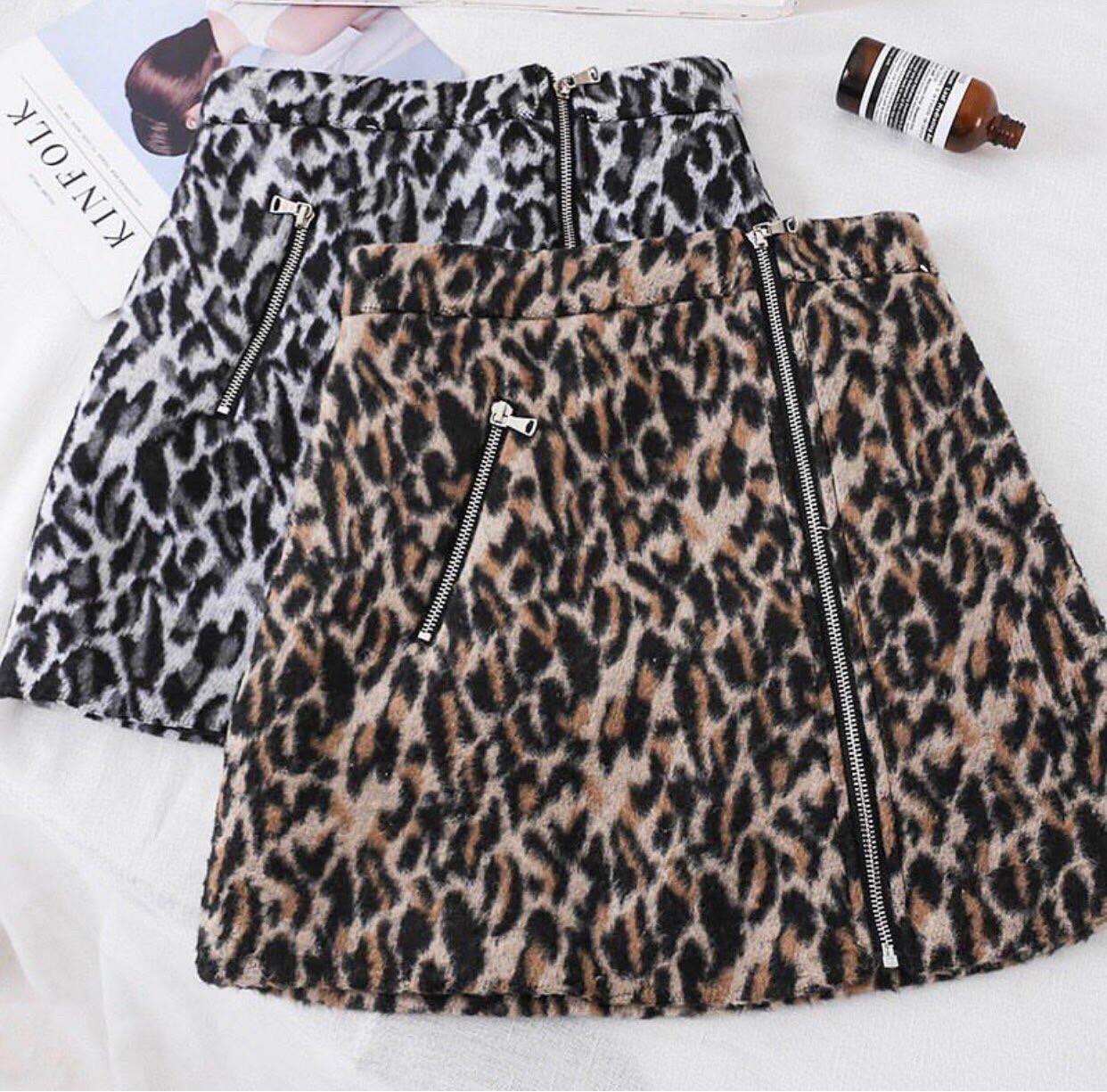 Юбка женская леопардовый принт