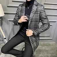 Мужское пальто осень-весна. Модель 8280, фото 2