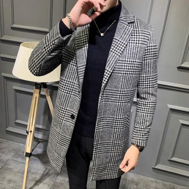 Мужское пальто осень-весна. Модель 8280