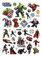 Тату-набор Marvel/ переводная временная татуировка/ водостойкая 21х15см