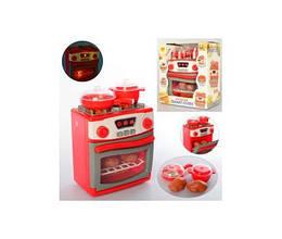 Плита игрушечная 20см, звук, свет, посуда, продукты, 1000