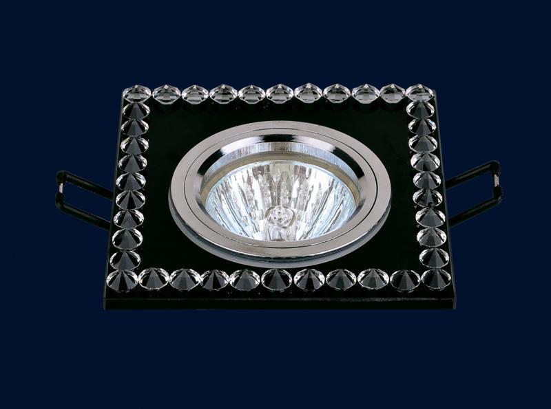Квадратный светильник с хрусталиками 716038