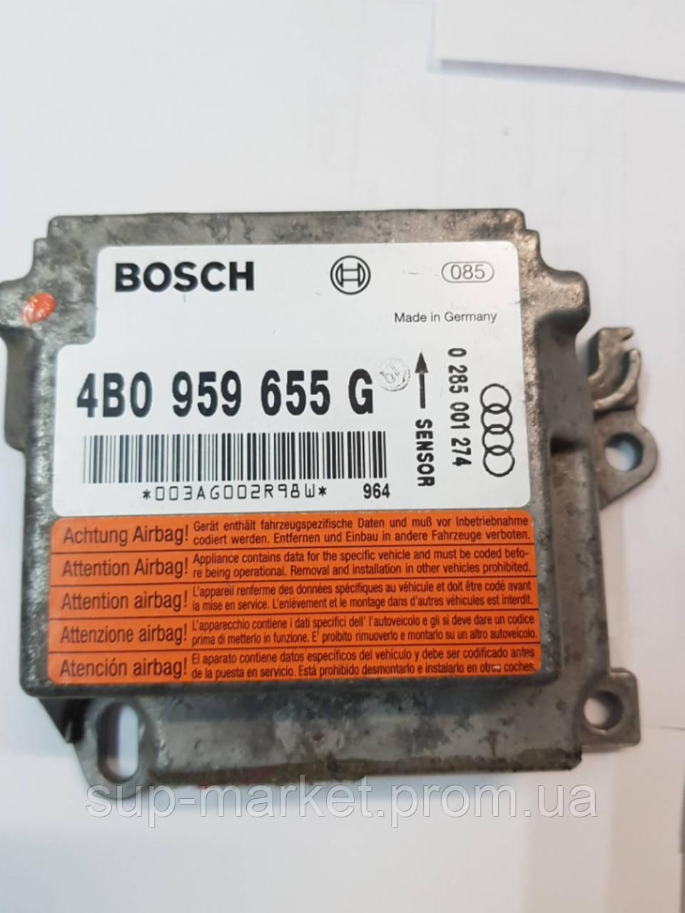 4B0959655G Блок управления AIRBAG для Audi A6 C5 2.5TDI 1997-2004