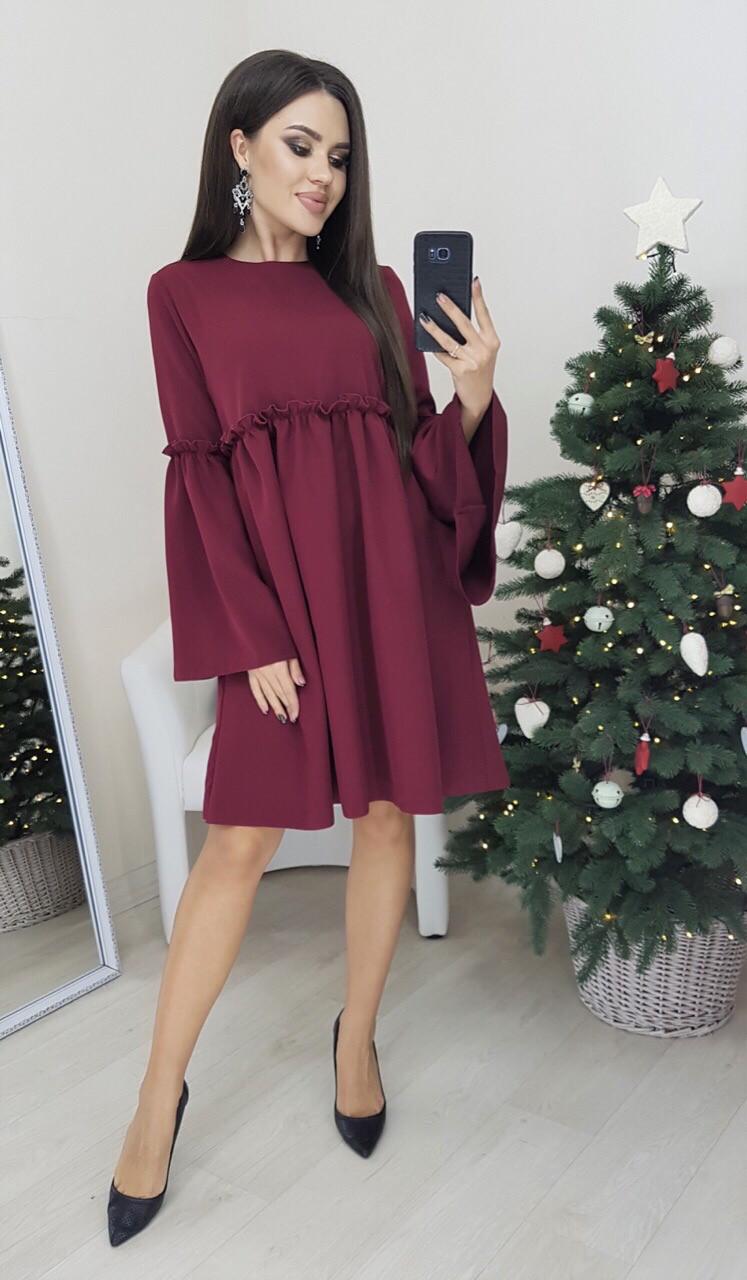 Платье женское розовый, марсал, 42-44; 46-48