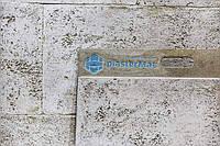 Панель фасадная крашенная. Облицовочный гибкий камень с фактурой травертина (1шт/0.3м2, 750х400х3мм)
